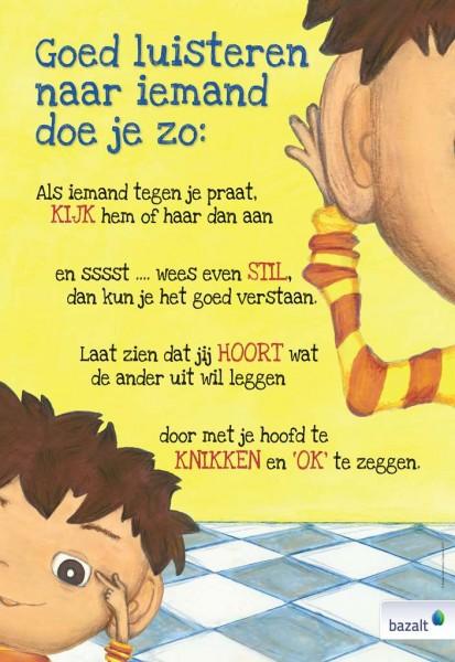 Poster De allerergste dag van mijn leven - Luisteren (gevouwen) set van 5