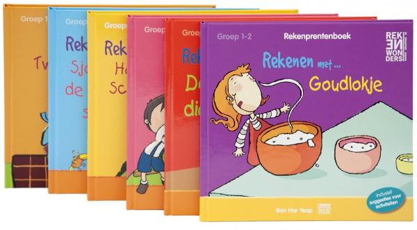 Rekenprentenboeken Groep 1-2 - 6 prentenboeken (Verkoopeenheid 1)