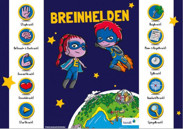 Poster Breinhelden groep 1-2 (ongevouwen)