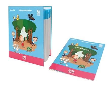 Ringband met 6 activiteitenkaarten en de handleiding behorend bij de Rekenprentenboeken